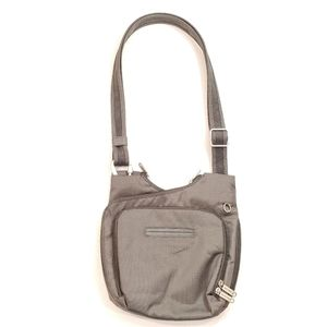 TRAVELON Gray Anti-Theft Messenger Cross-Body Bag